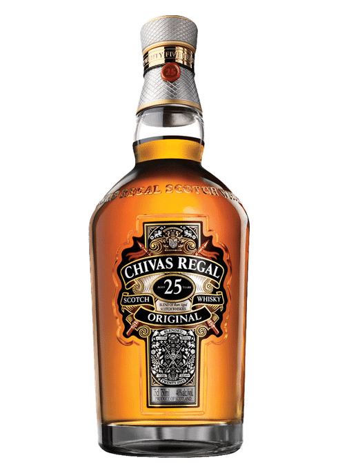 Bottle of Chivas Regal 25 Years Old whiskey