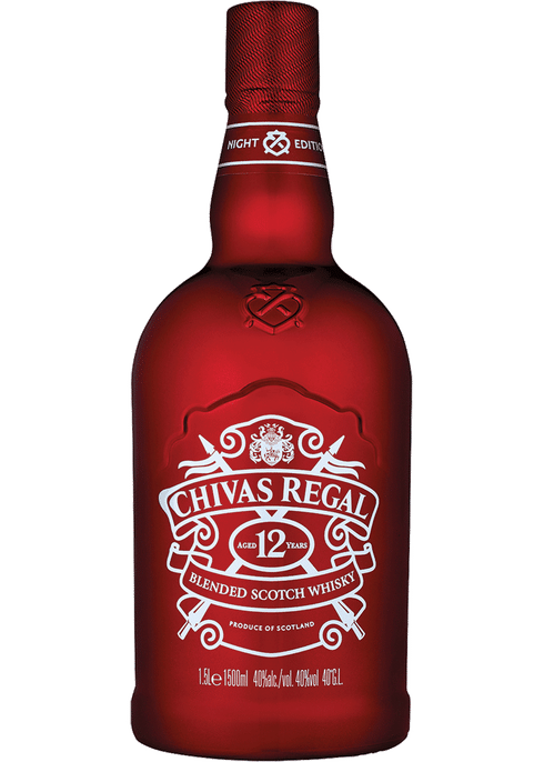 Bottle of Chivas Regal Night whiskey