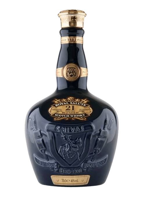 Bottle of Chivas Royal Salute 21 Years Old whiskey