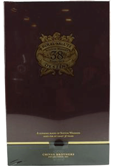 Bottle of Chivas Royal Salute 38 Years Old whiskey