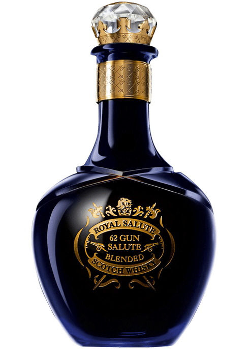 Bottle of Chivas Royal Salute 62 Gun Salute whiskey