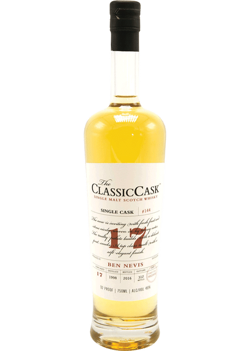 Bottle of Classic Cask Ben Nevis 17 Year whiskey