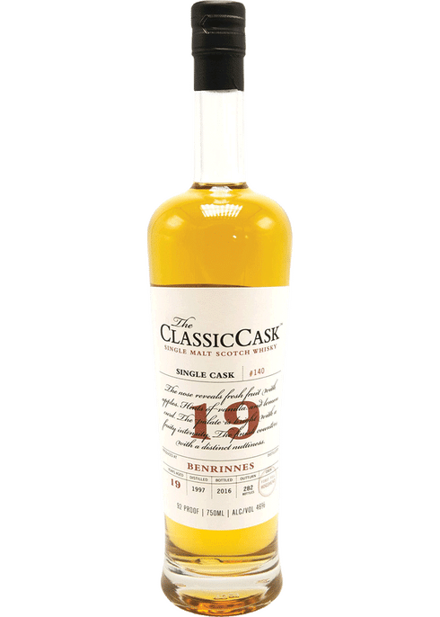 Bottle of Classic Cask Benrinnes 19 Year whiskey