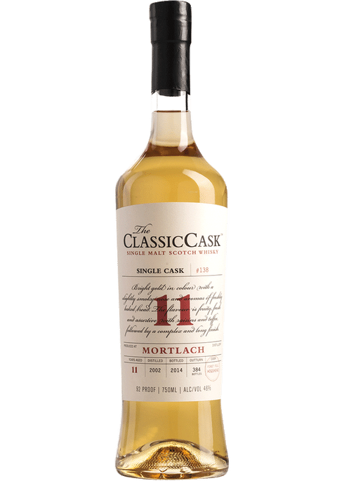 Bottle of Classic Cask Mortlach 11 Years Old whiskey