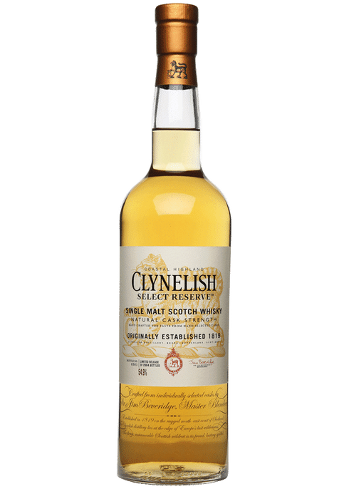 Bottle of Clynelish Select Reserve whiskey