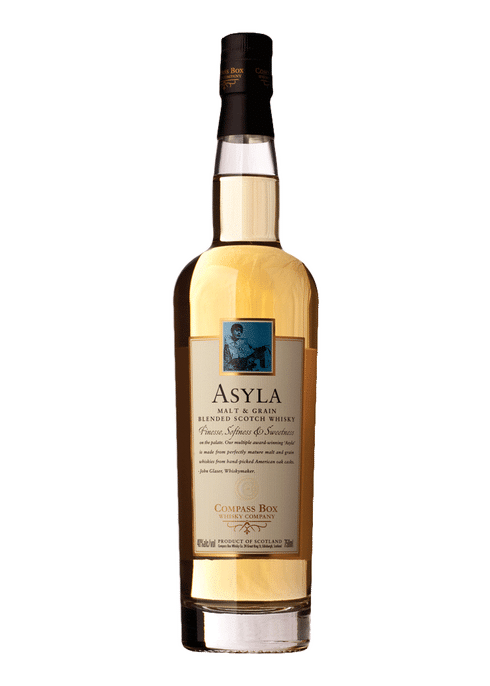 Bottle of Compass Box Asyla whiskey