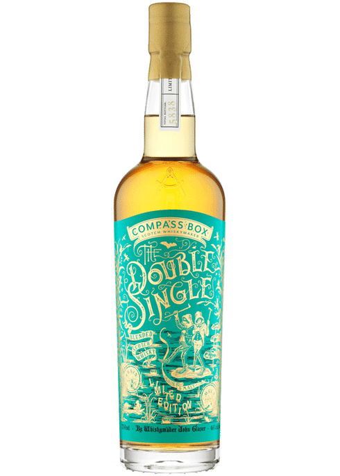 Bottle of Compass Box Double Single whiskey