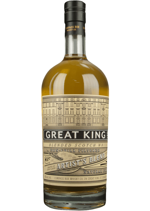 Bottle of Compass Box Great King Street Artist's Blend whiskey