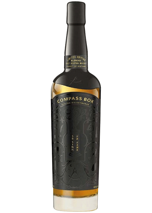 Bottle of Compass Box No Name whiskey
