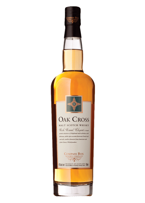 Bottle of Compass Box Oak Cross whiskey