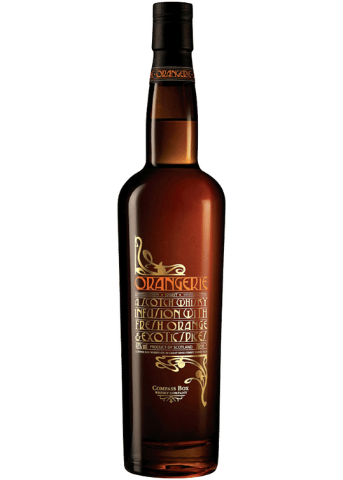 Bottle of Compass Box Orangerie whiskey