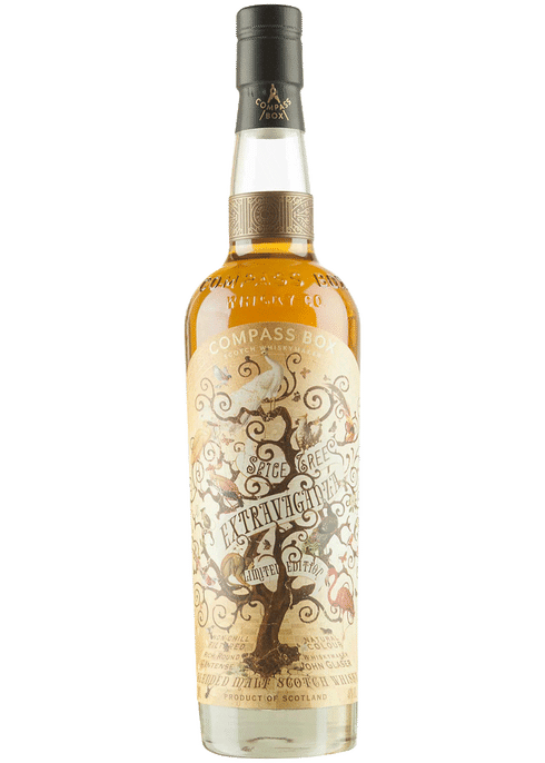 Bottle of Compass Box Spice Tree Extravaganza whiskey