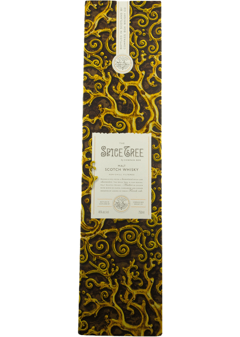 Bottle of Compass Box Spice Tree whiskey