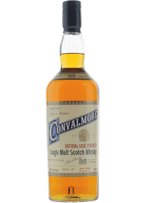 Bottle of Convalmore 32 Years Old whiskey