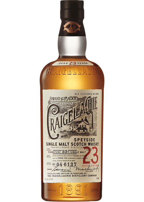 Bottle of Craigellachie 23 Years Old whiskey