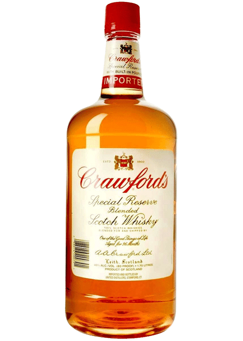 Bottle of Crawfords Special Reserve Blended Scotch Whisky whiskey