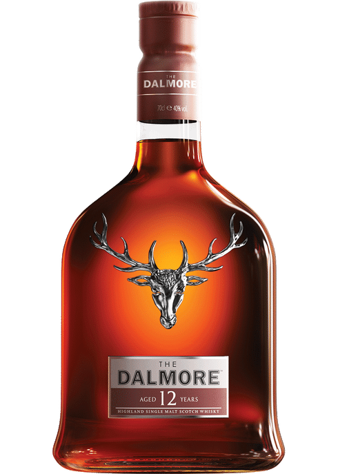 Bottle of Dalmore 12 Years Old whiskey