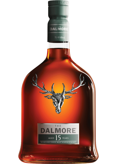 Bottle of Dalmore 15 Years Old whiskey