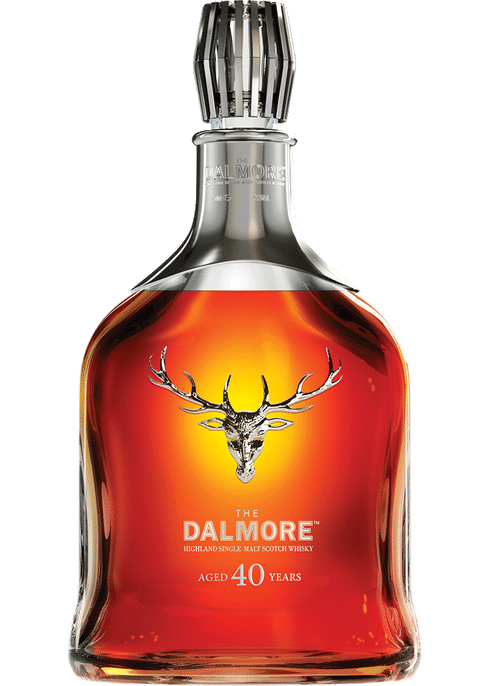 Bottle of Dalmore 40 Years Old whiskey