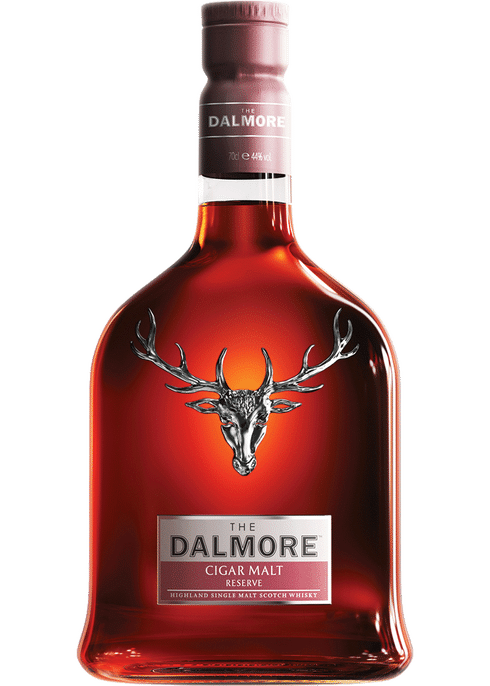 Bottle of Dalmore Cigar Malt whiskey