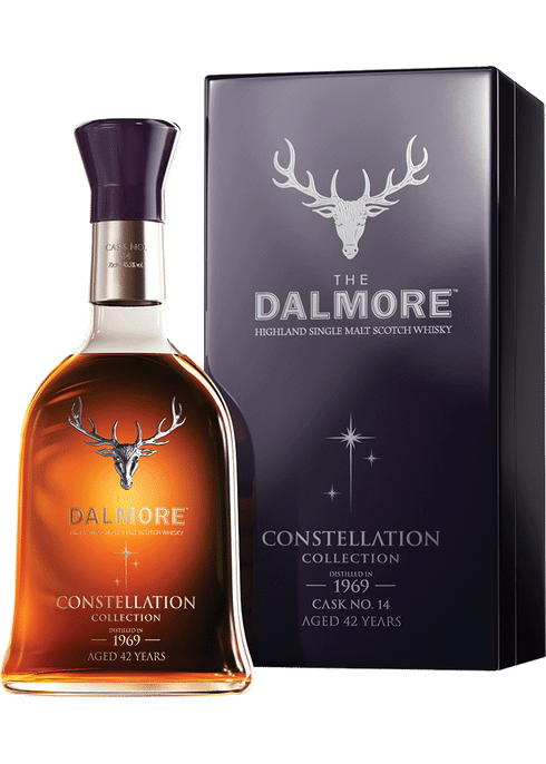 Bottle of Dalmore Constellation 1969 whiskey