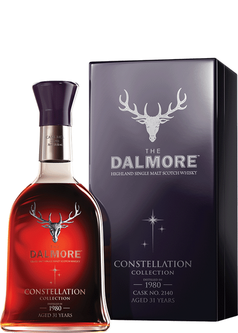Bottle of Dalmore Constellation 1980 whiskey