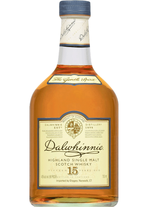 Bottle of Dalwhinnie 15 Years Old whiskey