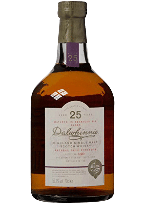 Bottle of Dalwhinnie 25 Years Old whiskey