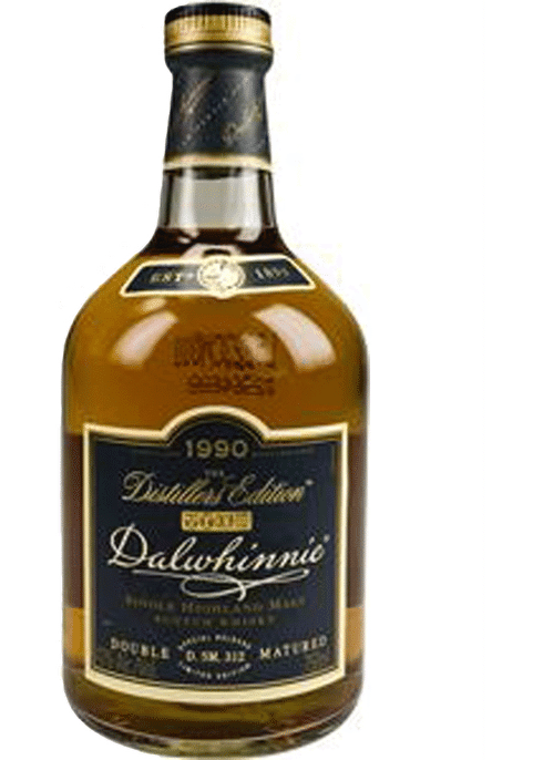 Bottle of Dalwhinnie Distillers Edition whiskey
