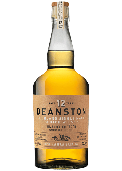 Bottle of Deanston 12 Years Old whiskey