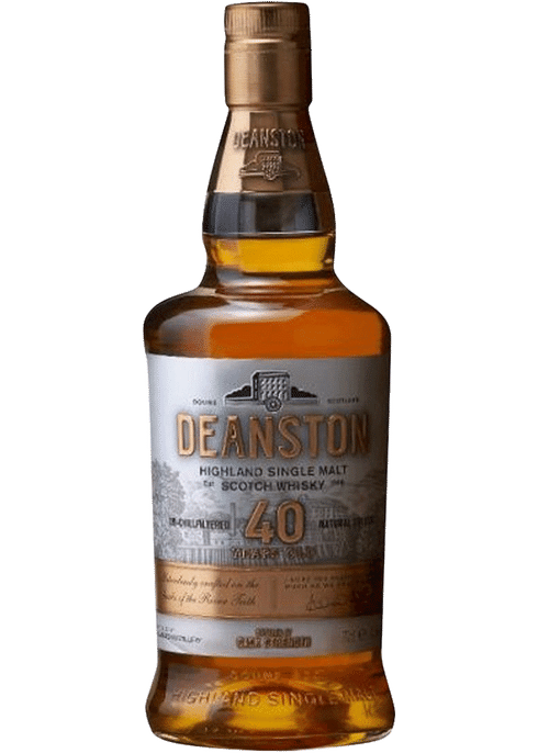 Bottle of Deanston 40 Years Old whiskey