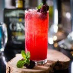 bramble cocktail with apple