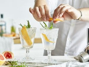 Gin and Tonic with Grapefruit and Tarragon