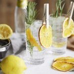 Gin and Tonic with Dried Orange and Rosemary