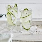 Gin and tonic with cucumber and Szechuan pepper