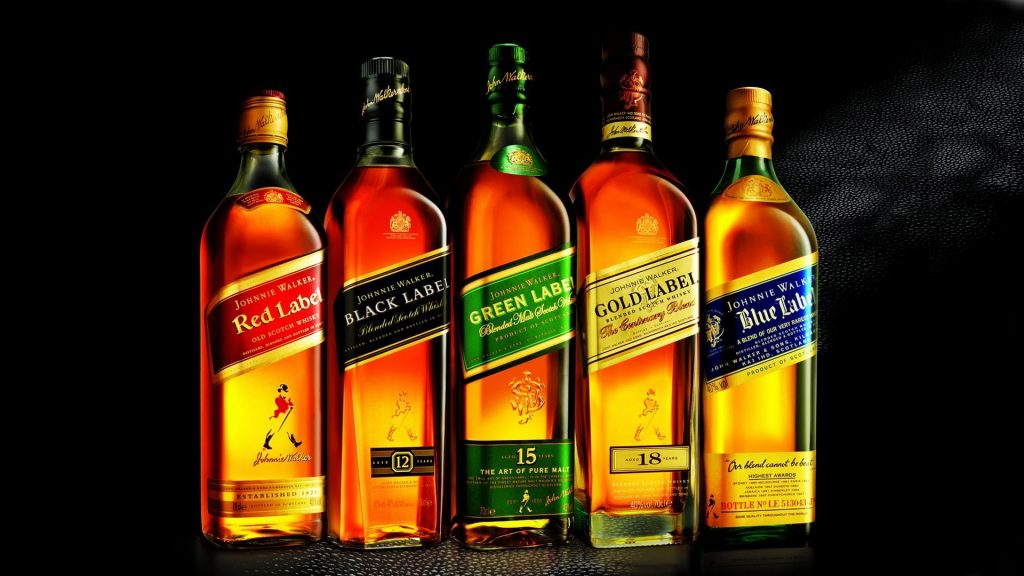 Johnnie Walker Whiskey Types