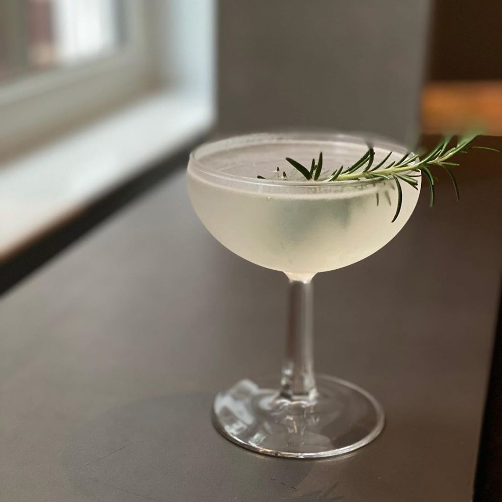 Rosemary Gimlet made with vodka