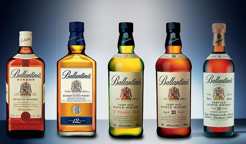 ballantines whiskys types and bottles