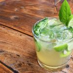 Basil Mojito in a glass
