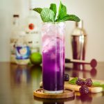 blackberry mojito in a glass