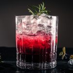 blueberry rosemary gin sour cocktail