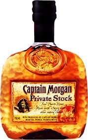 captain morgan private stock rum bottle