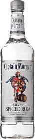 aptain morgan silver spiced rum bottle