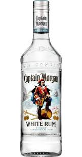 captain morgan white rum bottle