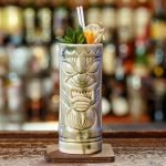 zombie cocktail in a tiki mug