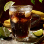 Cuba Libre Rum and Cola Cocktail