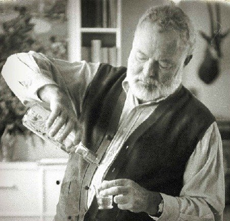 Hemingway popularized pouring rum in a glass