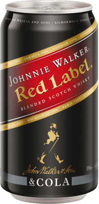 johnnie walker red cola can