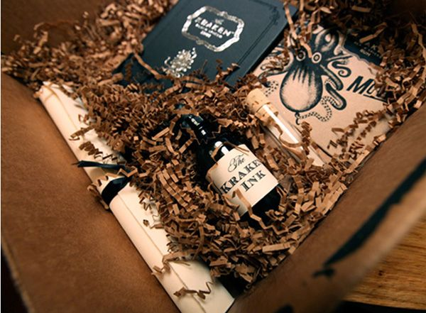 kraken rum packaging