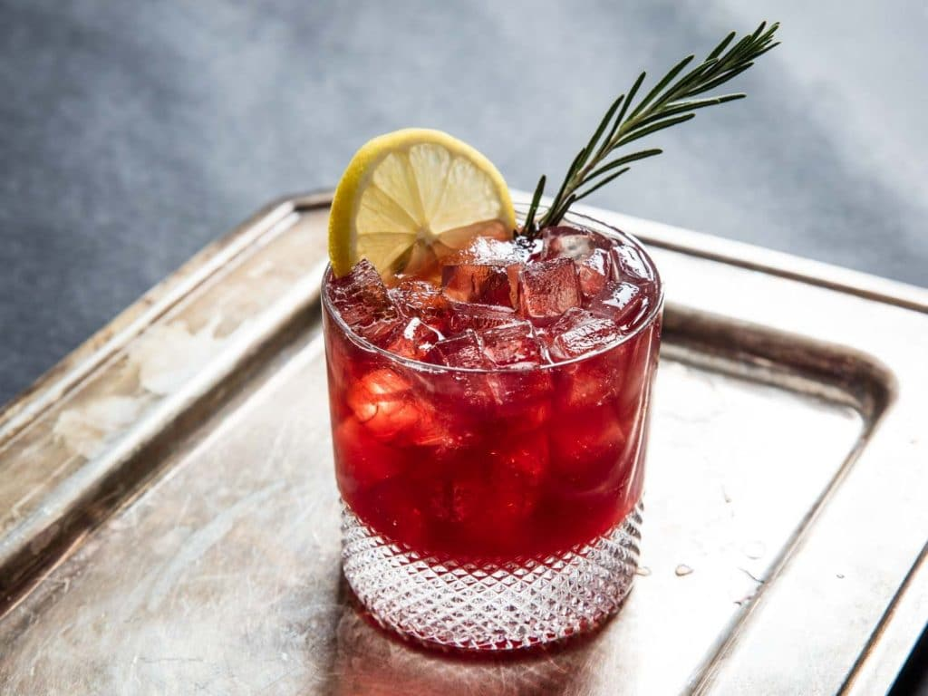 strawberry bramble cocktail